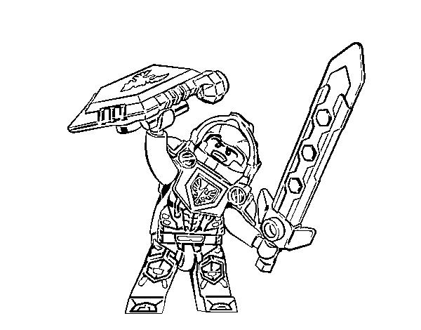 Desenho De Clay Nexo Knights Para Colorir Colorir Com