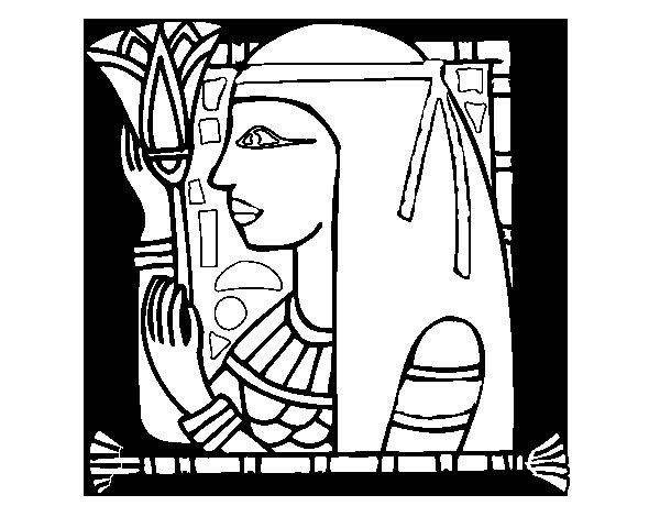 Desenho De Cleopatra Para Colorir Colorir Com