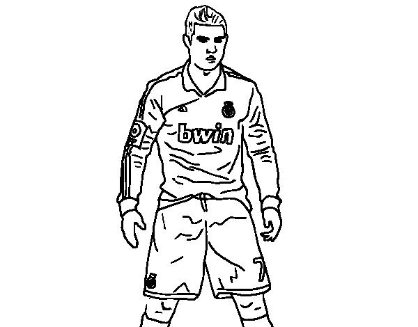 Desenho De Cristiano Ronaldo Real Madrid Para Colorir Colorir Com