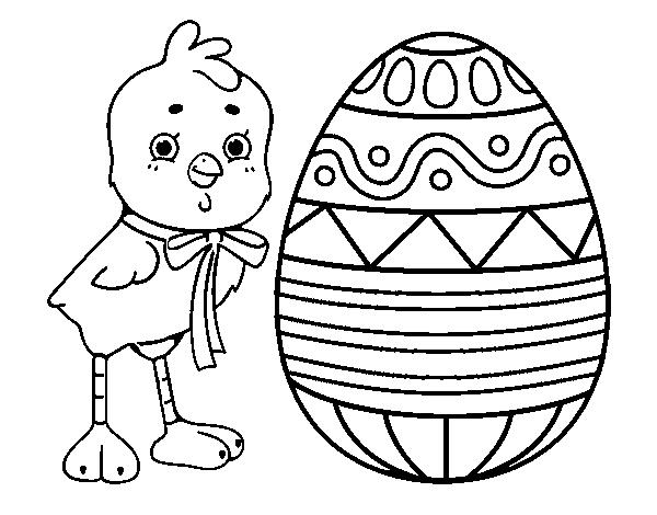Desenho De Desenho De Páscoa Para Colorir