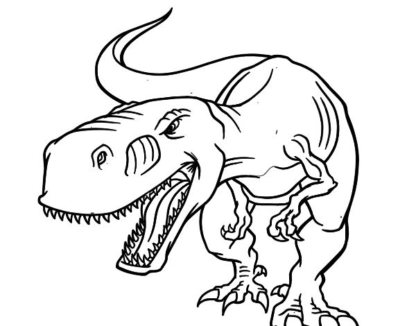 desenho de dinossauro aborrecido para colorir colorir com