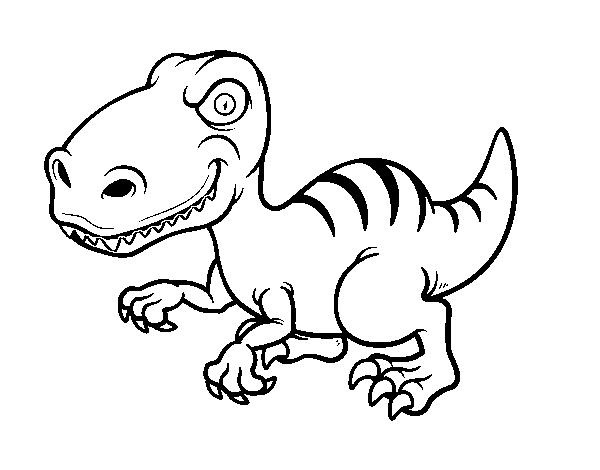 Desenho De Dinossauro Velociraptor Para Colorir Colorir Com