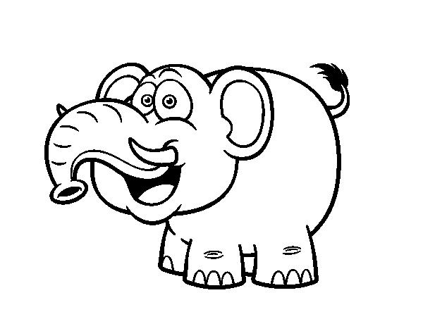 Desenho De Elefante Asiatico Para Colorir Colorir Com