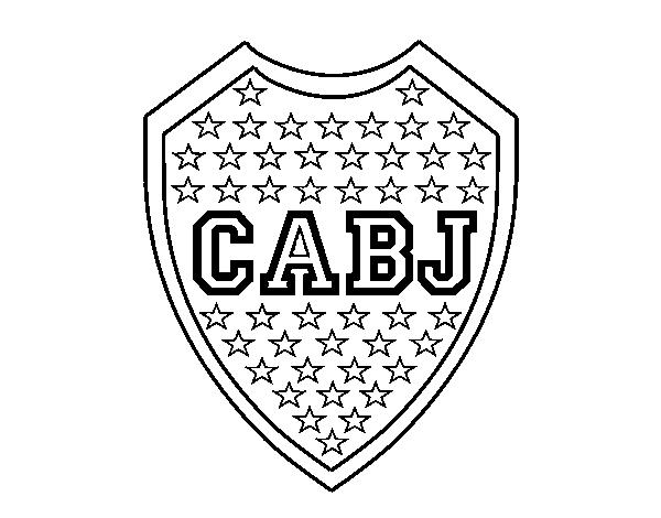 desenho de emblema do boca juniors para colorir colorir com
