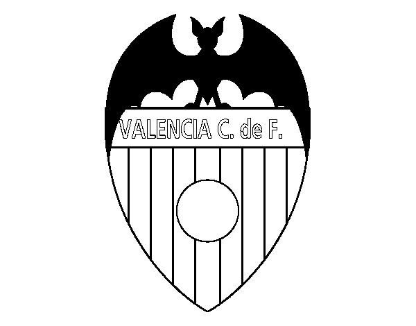 Desenho De Emblema Do Valencia F C Para Colorir Colorir Com