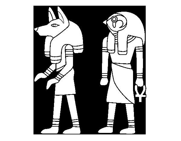 desenho de esfinges egipcias para colorir colorir com