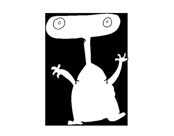 desenho de extraterrestre sem boca para colorir colorir com