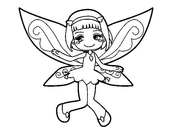 Desenho De Fada Voadora Para Colorir Colorir Com