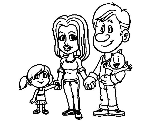 Desenho De Familia Feliz Para Colorir Colorir Com