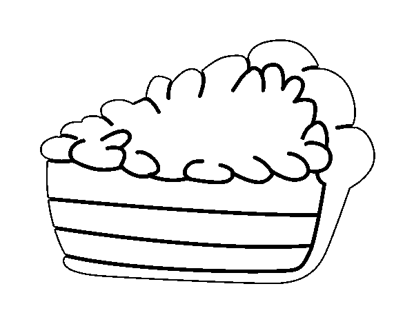 Desenho de Fatia de bolo para Colorir - Colorir.com