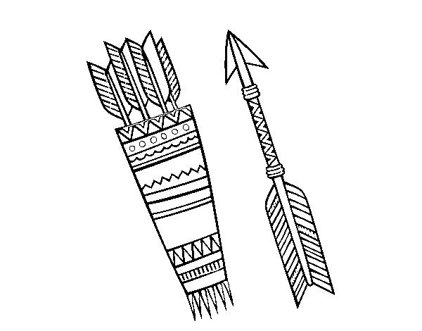 Desenho De Flechas Indianas Para Colorir Colorir Com