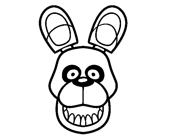 Desenho de Golden Freddy de Five Nights at Freddy's para Colorir