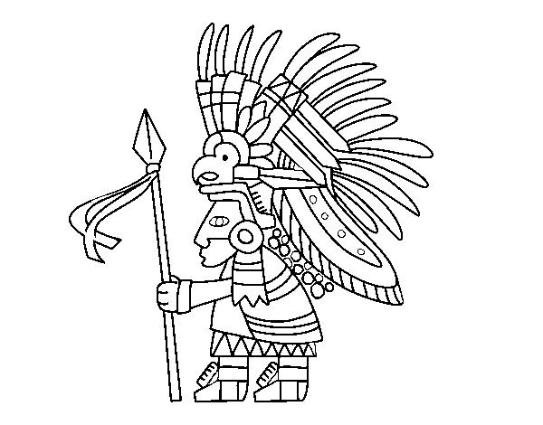 Desenho De Guerreiro Asteca Para Colorir Colorir Com