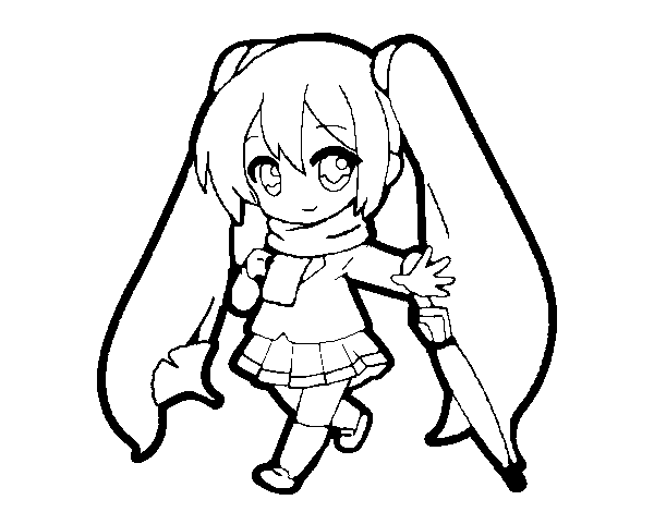 Desenho de Hatsune Miku para Colorir - Colorir.com