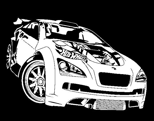 Desenho De Hot Wheels Megane Trophy Para Colorir