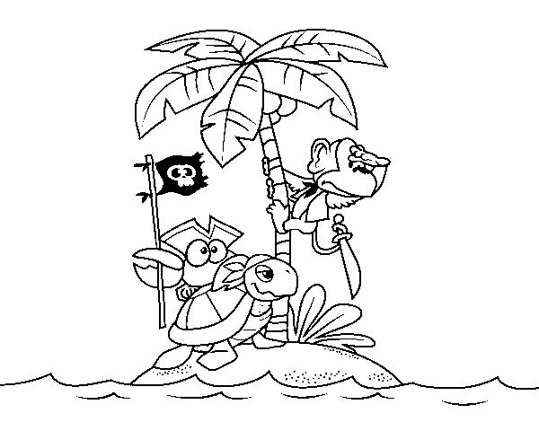Desenho De Ilha Pirata Para Colorir Colorir Com