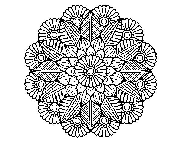 Desenho De Jardim Vegetal De Mandala Para Colorir Colorir Com