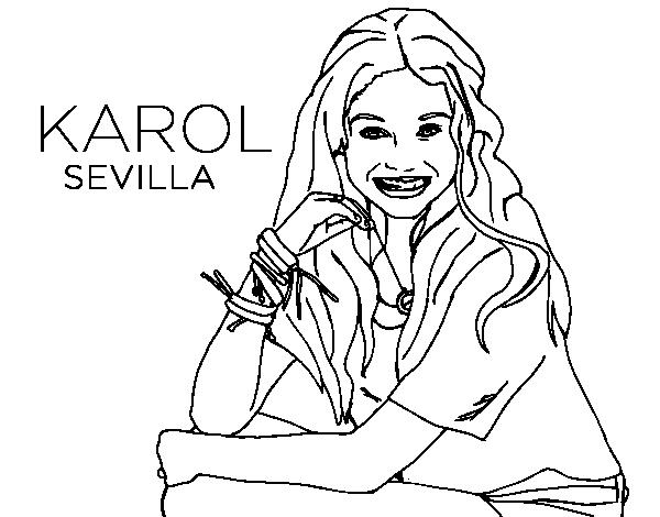 Desenho De Karol Sevilla De Soy Luna Para Colorir Colorir Com