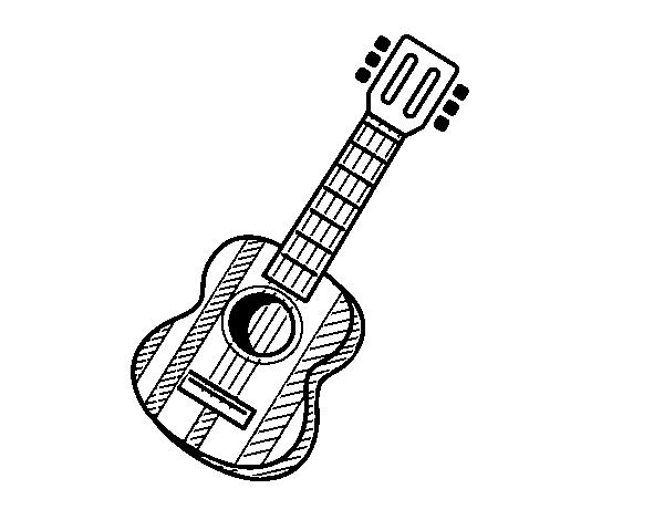 desenho de la guitarra espanhola para colorir colorir com