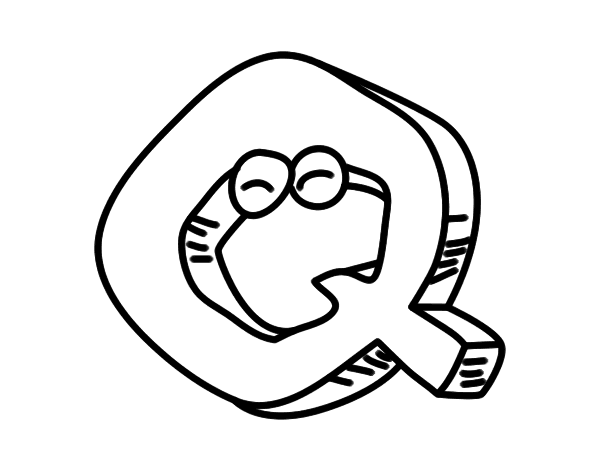 Desenho De Letra Q Para Colorir Colorir Com