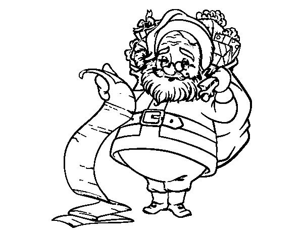 Desenho De Lista De Papai Noel Para Colorir