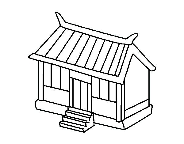 Desenho De Loja Japonesa Para Colorir Colorir Com