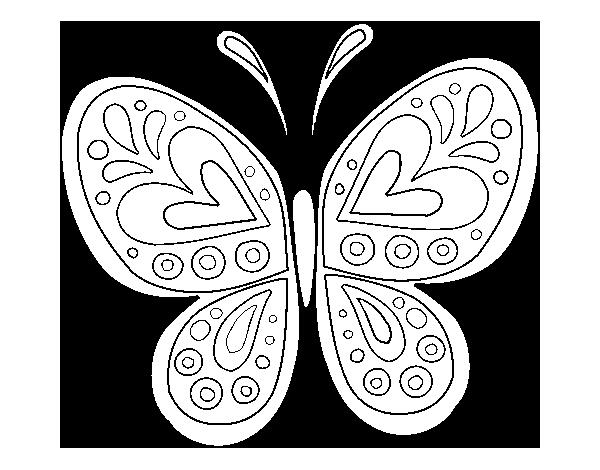 Desenho De Mandala Borboleta Para Colorir Colorir Com