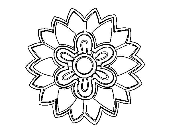 Mandalas De Perros Debuda Net Con Dibujos Para Colorear De: Desenho De Mandala Em Forma Flor Weiss Para Colorir