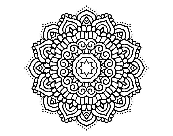 Desenho De Mandala Estrela Decorada Para Colorir
