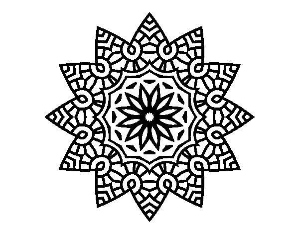desenho de mandala estrela floral para colorir colorir com