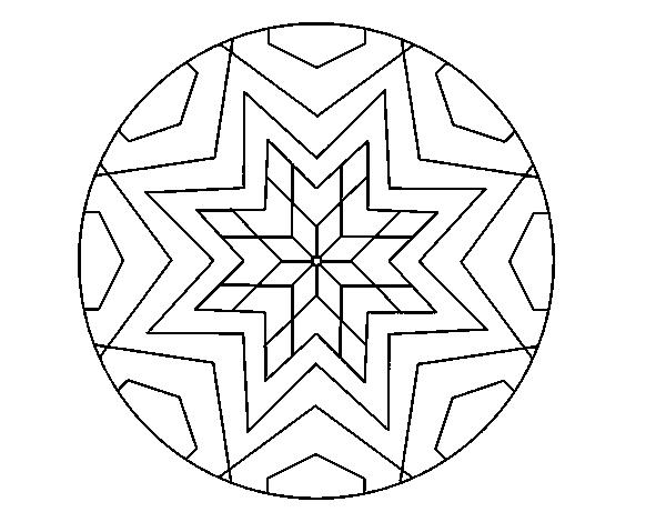 desenho de mandala mosaico estrela para colorir colorir com