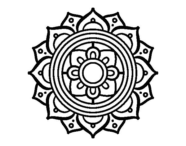 desenho de mandala mosaico griego para colorir colorir com