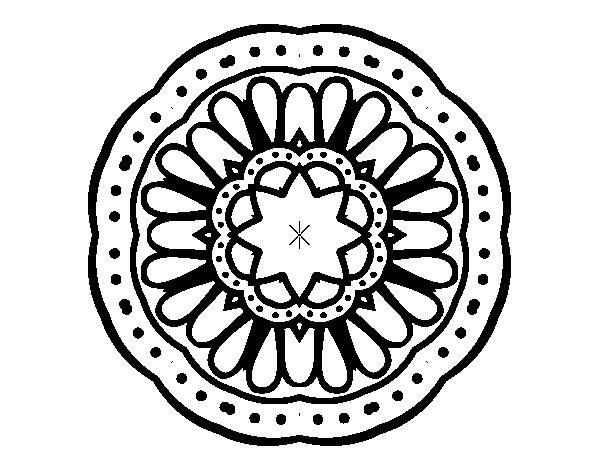 Desenho De Mandala Mosaico Para Colorir Colorir Com