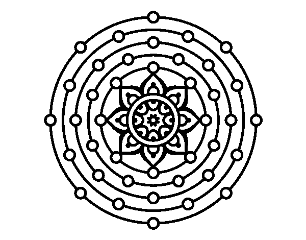 Desenho De Mandala Sistema Solar Para Colorir