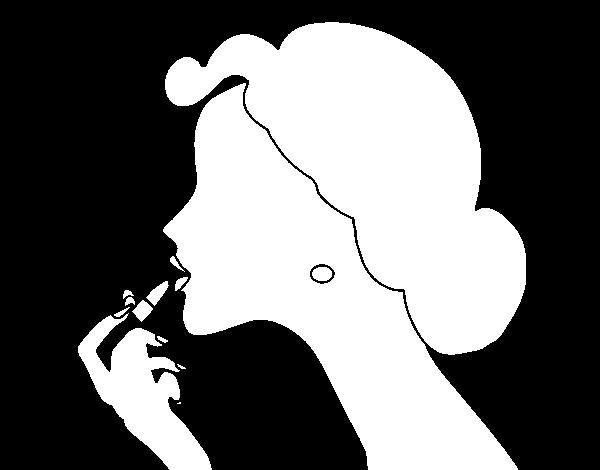 Desenho De Maquiagem Dos Labios Para Colorir Colorir Com