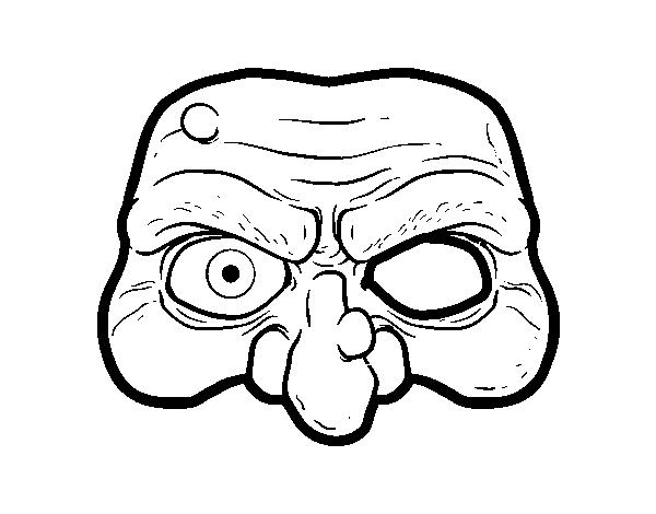 Desenho De Mascara De Bruxa Para Colorir Colorir Com