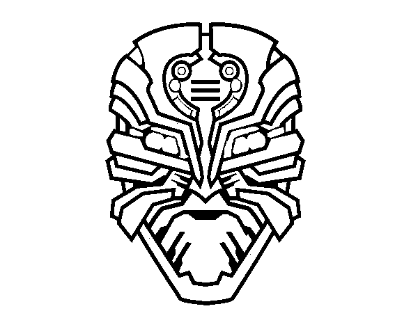 Desenho De Mascara Robo Alien Para Colorir Colorir Com