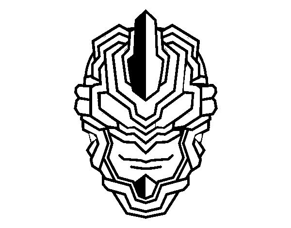 Desenho De Mascara Robo Para Colorir Colorir Com