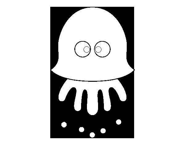 desenho de medusa divertida para colorir colorir com