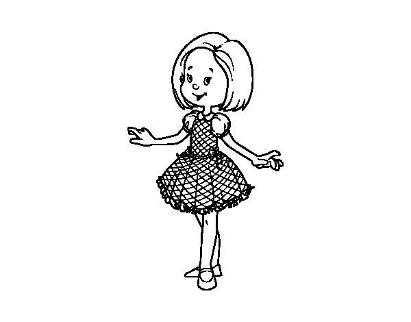Desenho De Menina Com Vestido De Princesa Para Colorir Colorir Com