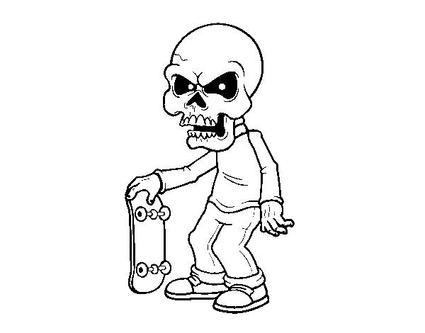 Dibujos De Calaveras Bonitas Para Colorear: Desenho De Menino Do Crânio Para Colorir