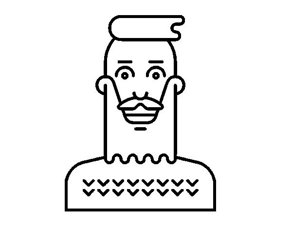 Desenho De Menino Hipster Para Colorir Colorir Com