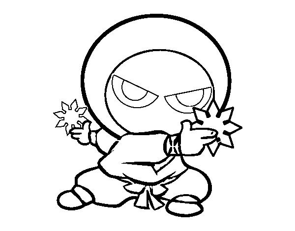 Desenho De Menino Ninja Para Colorir Colorir Com