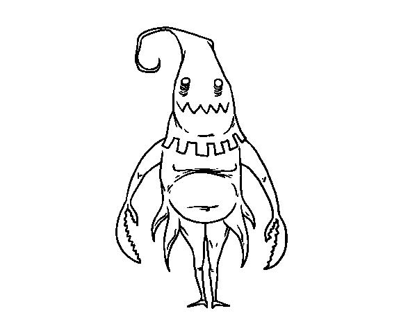 desenho de monstro com capuz para colorir colorir com