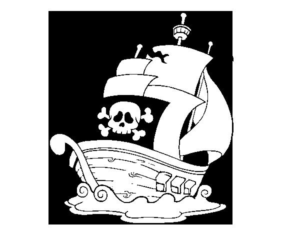 Image Of Barco Nao Para Colorear Desenho de Barco no mar para ...