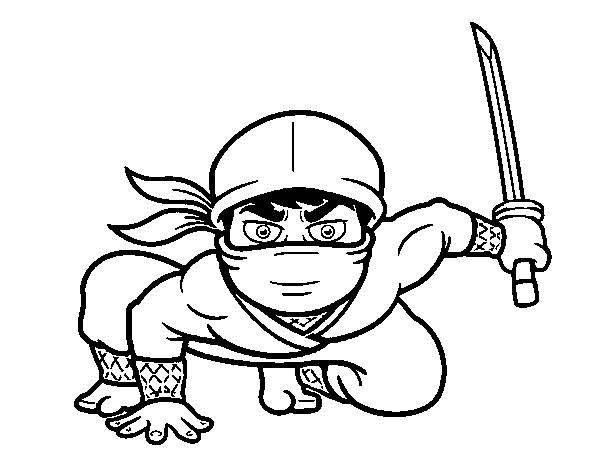 Desenho De Ninja Japones Para Colorir Colorir Com