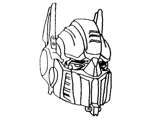 desenho de optimus prime para colorir colorir com