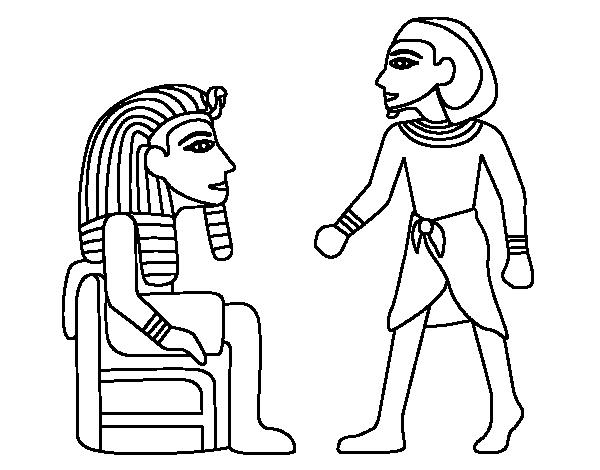 desenho de os reis egípcios para colorir colorir com