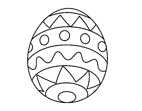 Desenho De Ovo De Pascoa Infantil Para Colorir Colorir Com