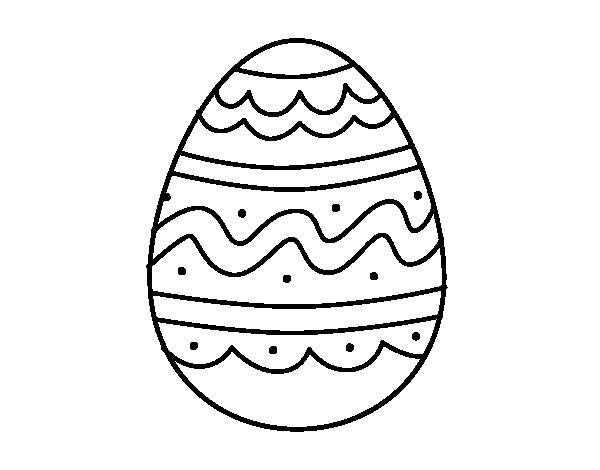 Desenho De Ovo Dia De Pascoa Para Colorir Colorir Com